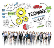 Teamwork Team Together Collaboration Corporate Business People. Concept Royalty Free Stock Image