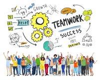 Teamwork-Team Together Collaboration People Celebrations-Konzept stockfotos