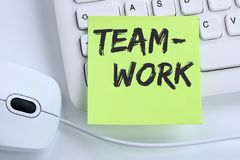Teamwork team working together business concept success mouse Stock Images