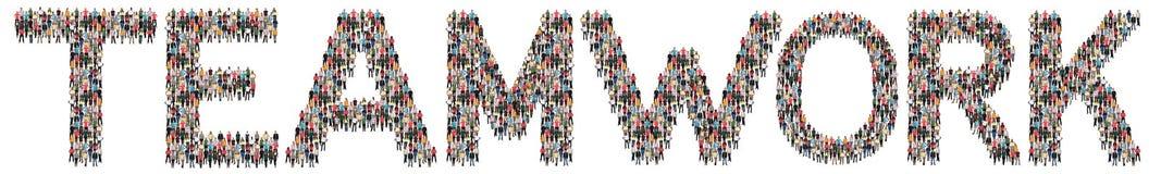 Teamwork-Teamgeschäftserfolgerfolgreiches zusammen multi ethnisches stockfoto