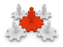 Teamwork with teamleader Stock Image