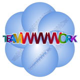 Teamwork - teamWWWork Royalty Free Stock Photography