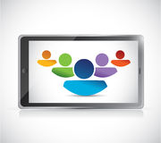 Teamwork and technology tablet illustration design Stock Image