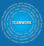 Teamwork concept in circles Royalty Free Stock Images
