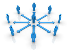Teamwork. Three dimensional illustration of Teamwork Concept made with pictogram people Stock Photos