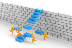 Teamwork to overcome obstacle Stock Images