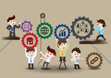Teamwork to successful business, template Royalty Free Stock Photos