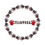 Teamwork together hand circle vector element Stock Photography
