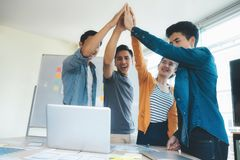 Teamwork Togetherness Collaboration Concept. Success team Royalty Free Stock Images