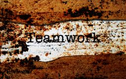 Teamwork on torn paper Royalty Free Stock Photos