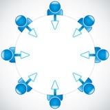 Teamwork um die Tabelle Lizenzfreies Stockfoto