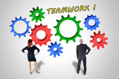 Teamwork- und Beitragkonzept Stockfotografie