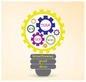 Teamwork- und Brainstormingvektordesign stock abbildung