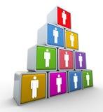 Teamwork und Führung lizenzfreie abbildung