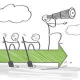 Teamwork und Führung Stockfotografie