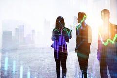 Teamwork- und Finanzkonzept lizenzfreies stockbild