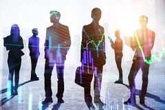 Teamwork- und Handelskonzept lizenzfreies stockfoto