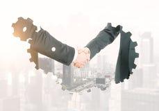 Teamwork- und Industriekonzept Stockbilder