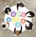 Teamwork- und Integrationskonzept stockfoto
