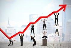 Teamwork und Unternehmensgewinn Lizenzfreie Stockfotografie