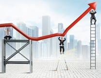 Teamwork und Unternehmensgewinn Stockbild