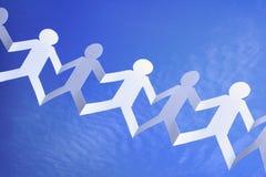Teamwork und Vernetzung stockbild