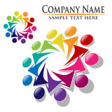 Teamwork union people logo  Royalty Free Stock Images