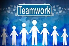 Teamwork uttrycker in personalresurser Royaltyfri Foto