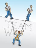 Teamwork (vector). Vector drawing (cmyk to rgb Stock Photo