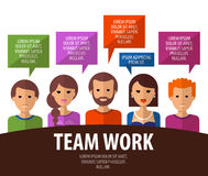 Teamwork vector logo design template. business Royalty Free Stock Photo