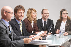 Teamwork very successful Royalty Free Stock Photography