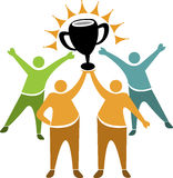 Teamwork winner logo vector illustration