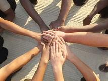 Teamwork-Wirrwarr Stockfotografie