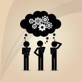 Teamwork wirth gear design Stock Images