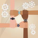Teamwork wirth gear design Stock Photography