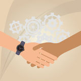 Teamwork wirth gear design Royalty Free Stock Photography