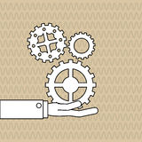 Teamwork wirth gear design, vector illustration. Teamwork  concept with icon design, vector illustration 10 eps graphic Royalty Free Stock Photography