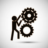 Teamwork wirth gear design, vector illustration. Teamwork  concept with icon design, vector illustration 10 eps graphic Stock Photos