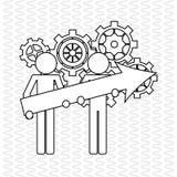 Teamwork wirth gear design, vector illustration. Teamwork  concept with icon design, vector illustration 10 eps graphic Royalty Free Stock Photos
