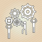 Teamwork wirth gear design, vector illustration Stock Photography