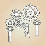 Teamwork wirth gear design, vector illustration. Teamwork  concept with icon design, vector illustration 10 eps graphic Stock Photography