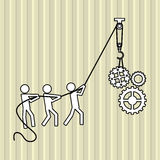 Teamwork wirth gear design, vector illustration Royalty Free Stock Images
