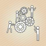 Teamwork wirth gear design, vector illustration. Teamwork  concept with icon design, vector illustration 10 eps graphic Stock Photo