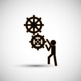 Teamwork wirth gear design, vector illustration. Teamwork  concept with icon design, vector illustration 10 eps graphic Royalty Free Stock Photo