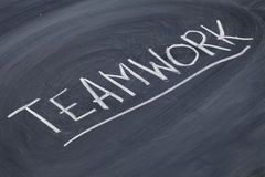 Teamwork word on blackboard Royalty Free Stock Photography
