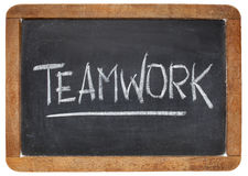 Teamwork word on blackboard Royalty Free Stock Image