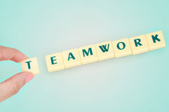 Teamwork word Stock Photos
