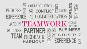 Teamwork word cloud concept on gray background royalty free illustration