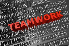 Teamwork word cloud Royalty Free Stock Image