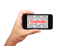 Teamwork Word Cloud Stock Photography